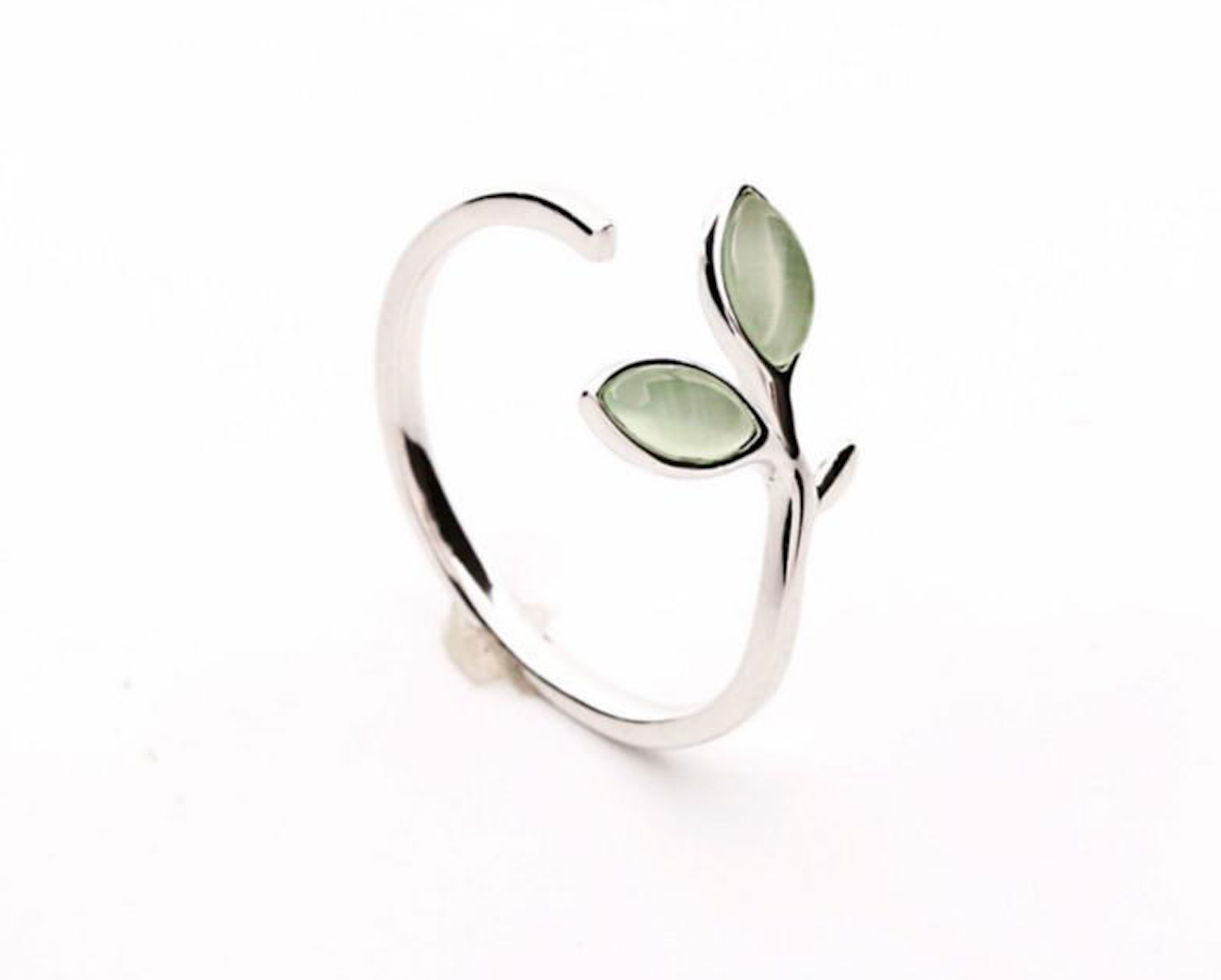 Sterling Silver Adjustable Wrap Leaf Ring
