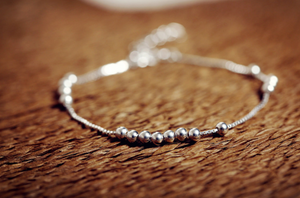 925 sterling silver ball Stacking Chain Bracelet