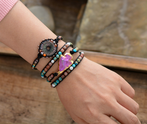 Natural Stone Seed Beads Beaded Stacking | Friendship Bracelet