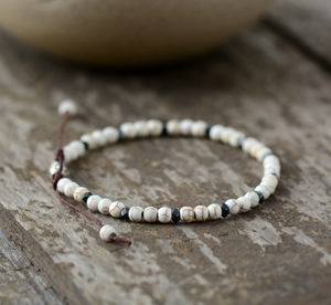 Howlite & Hematite Beaded Friendship Stacking Bracelet