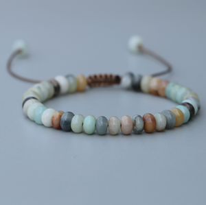 Natural Stone Amazonite Beaded Stacking Bracelet - Egret Jewellery