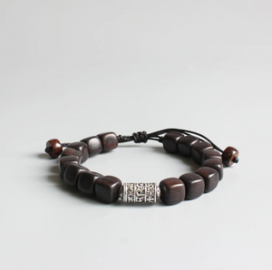Tibetan Buddhist Dark Sandalwood Stacking Mantra Bracelet - Egret Jewellery