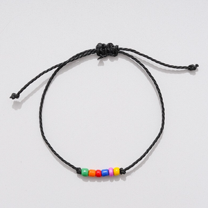 Two Matching Wishing Friendship Bracelets Boyfriend Girlfriend Love LGBT Rainbow - Egret Jewellery