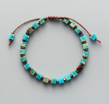 Natural Turquoise Impression Jasper Beaded Stacking Bracelet