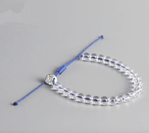 Clear Glass Beaded Stacking Friendship Bracelet - Egret Jewellery