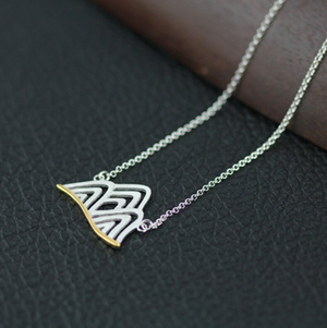 925 Sterling Silver Mountain Necklace Pendant Gold Dipped Wanderlust Travel - Egret Jewellery