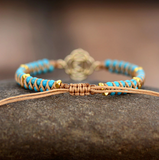 Natural Reiki Muladhara Turquoise Beaded Stacking Friendship Bracelet