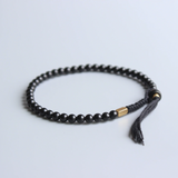 Tibetan Buddhist Gold braided Lucky knots bracelet Men's Stacking Mantra Coconut