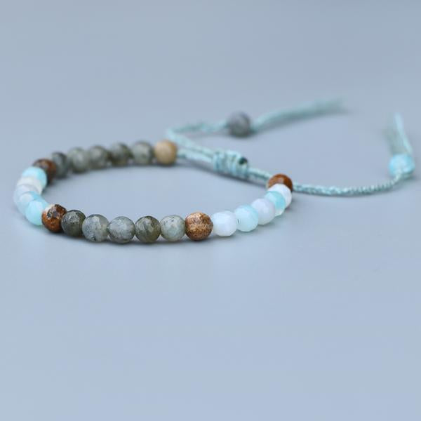 Natural Agate, Jasper And Labradorite Stone Healing Stacking Bracelet - Egret Jewellery