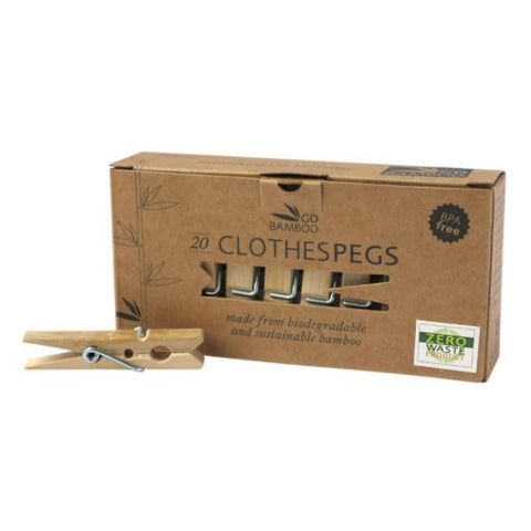 Go Bamboo - Wooden Clothes Pegs 20s