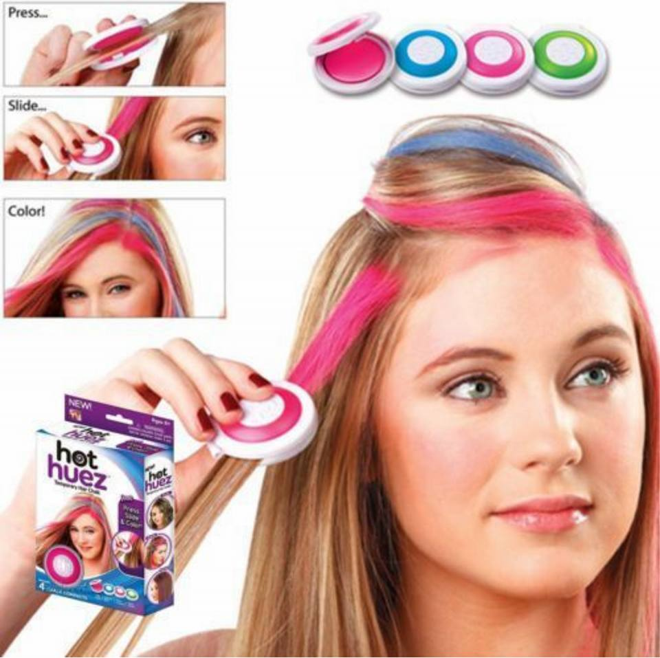Temporary Hair Chalk Set Of 4 Color Sugarcomb
