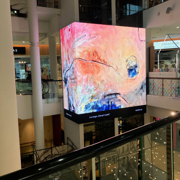 Solaris Centre, animated artworks, Liis Koger, abstract painter