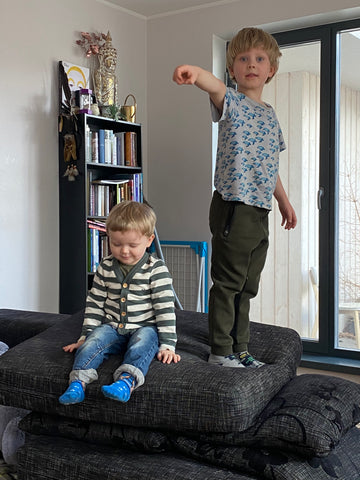 Oskar and Ekke, artist kids. How to Work from Home With Kids?