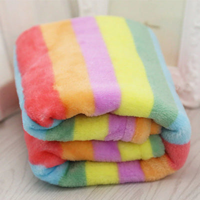 Blanket For Small Dog Car Seat Travel Rainbow