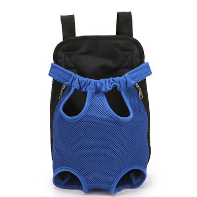 Front Facing Small Dog Puppy Carrier Legs Out Blue 2 SIZES