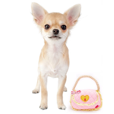 CHI-WEAR Handbag Chihuahua or Small Dog Squeaky Toy and Prop