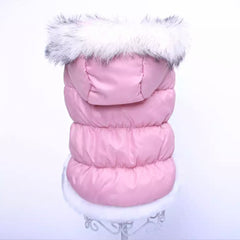 Puppy Chihuahua or Small Dog Designer Pink Glamour Parka Style Dog Coat Chihuahua Clothes and Accessories at My Chi and Me