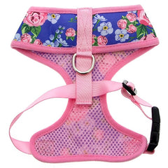 Pink and Blue Floral Burst Harness by Urban Pup Chihuahua Clothes and Accessories at My Chi and Me