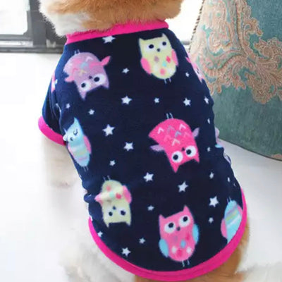 Chihuahua Puppy or Small Dog Fleece Owls Print 4 SizesChihuahua Puppy or Small Dog Fleece Owls Print 4 Sizes