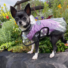 Water Resistant Padded Quilted Purple Dog Gilet