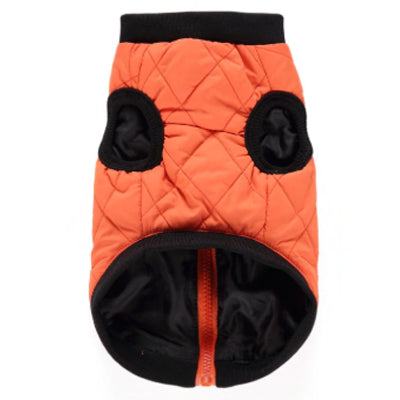 Water Resistant Padded Quilted Orange Dog Gilet