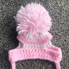 Small Dog Hand Made Hat with Pom Pom 25 COLOURS