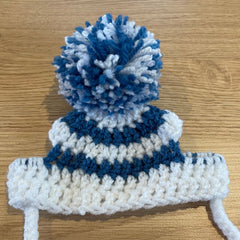 Chihuahua or Small Dog Hand Made Hat with Pom Pom