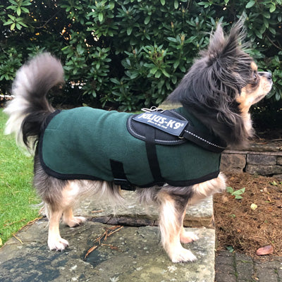 HOTTERdog© Fleece Water Repellent Dog Coat 10 Inch