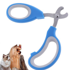 Small Scissor Style Nail Clippers Chihuahua Small Dogs Blue With Large Finger Holes - My Chi and Me