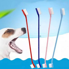 Double Ended Soft Nylon Bristle Dog Toothbrush
