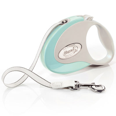 Flexi Style Retractable Extending Small Dog Lead 3 Metre Tape with Non Chew Strap