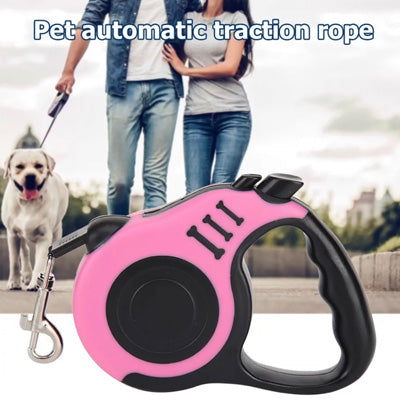 Premium Retractable Extending Chihuahua or Small Dog Lead Bones - Baby Pink