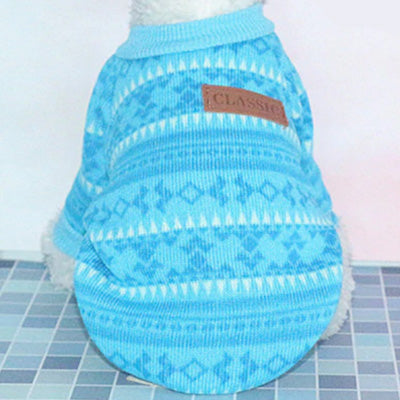 Scandi Style Fjord Blue Fleece Lined Chihuahua Jumper