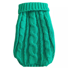 Small Dog Soft Cable Jumper Green 5 Sizes