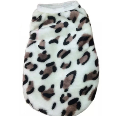 Chihuahua Puppy Fluffy Vest Leopard Print Chihuahua Clothes and Accessories at My Chi and Me