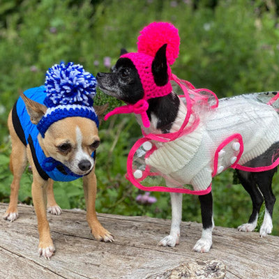 Water Resistant Padded Quilted Blue Dog Gilet Chihuahua Clothes and Accessories at My Chi and Me