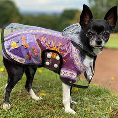 Size 1 Hand Embroidered Peruvian Dog Jumper Purple and Lilac 21cm