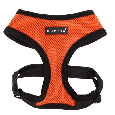 Puppia Soft Mesh Small Dog Harness A Orange 3 Sizes