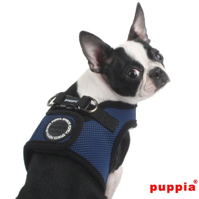 Puppia Soft Mesh Vest Style Chihuahua Small Dog Jacket Harness B NAVY 3 SIZES