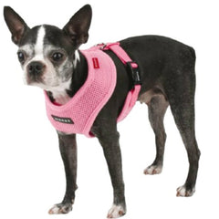 Puppia Soft Mesh Small Dog Harness A Pink 3 Sizes