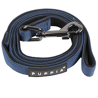 Puppia Soft Navy & Black Chihuahua Lead Medium 1.5cm Width Chihuahua Clothes and Accessories at My Chi and Me