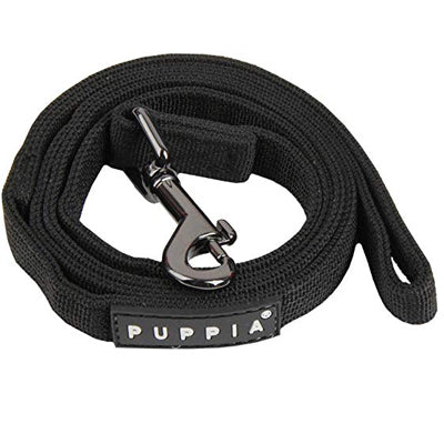 Puppia Soft Black Chihuahua Lead Medium 1.5cm Width Chihuahua Clothes and Accessories at My Chi and Me
