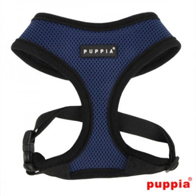 Puppia Soft Mesh Chihuahua Harness A Navy Blue 2 Sizes Chihuahua Clothes and Accessories at My Chi and Me