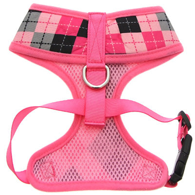 Pink Argyle Harness by Urban Pup Chihuahua Clothes and Accessories at My Chi and Me