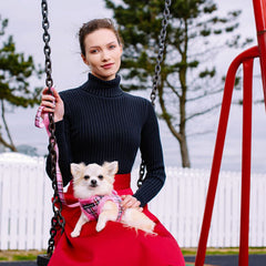 Fuchsia Pink Tartan Lead by Urban Pup Chihuahua Clothes and Accessories at My Chi and Me