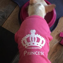 Chihuahua Small Dog Vest Style T Shirt Princess Design Pink Chihuahua Clothes and Accessories at My Chi and Me
