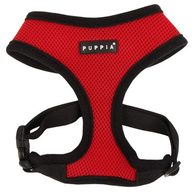 Puppia Soft Mesh Chihuahua Harness A Red and Black 3 Sizes Chihuahua Clothes and Accessories at My Chi and Me