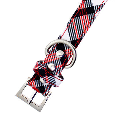 Red and White Plaid Collar by Urban Pup Chihuahua Clothes and Accessories at My Chi and Me