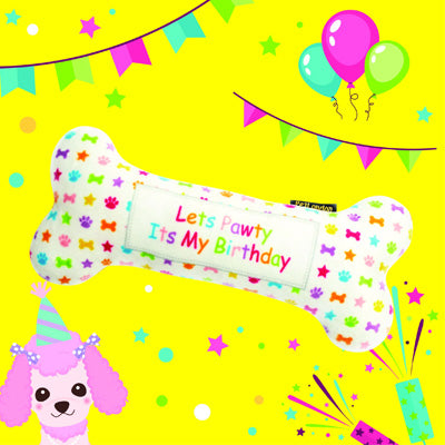Dog Birthday Bone Toy