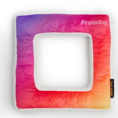 Instagram Frame Soft Dog Toy with Squeaker